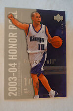NBA CARD - Upper Deck - Honor Roll Series - Mike Bibby - Kings