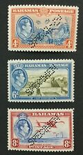 MOMEN: BAHAMAS SG #158s-160s SPECIMEN 1938 MINT OG H LOT #191628-253
