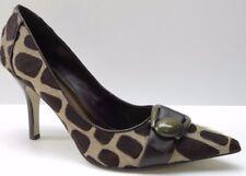 Nine West Brown Animal Print Fur Leather Dress Pumps Heels 6.5M 6.5 NEW MSRP $89