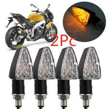 2PCS Motorcycle Motorbike 15 LED Turn Signal Indicators Amber Turning Light 12V