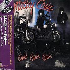 MOTLEY CRUE - GIRLS GIRLS GIRLS + 5 BONUS - JAPAN MINI LP CD