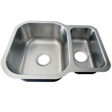 SINK KITCHEN STAINLESS STEEL DOUBLE BOWL UNDER MOUNT