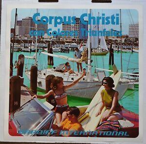 Vintage 1970's Braniff International Airlines Poster - Corpus Christi