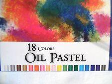 LOT 18 OIL PASTEL COLORS STICKS BAZIC #2552 USE ON PAPER,CANVAS,BOARD,TEXTILES