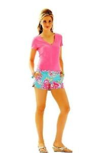 Lilly Pulitzer Breakwater Lolita Blue Aqua Shorts Size 00 Nwt