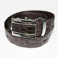 MEN'S GENUINE CROCODILE HORNBACK LEATHER BELT WITH AUTO LOCK BUCKLE - 3 COLOURS