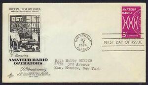 #1260 5c Amateur Radio, Art Craft-A.R.R.L. w/ Insert FDC **ANY 5=FREE SHIPPING**