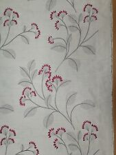 GRACE FLORAL Furnishing Fabric in Rose - 2430mm - 100% Polyester