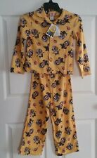 NWT Despicable Me Little Boys Minion 2pc Flannel Pajama Set Size 4