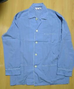 Derek Rose Pyjamas Shirt Blue size M 100% Cotton.