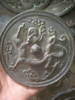 CHINESE FOLK  OLD Collection Evil slayer bronze mirror feng shui dragon mirror