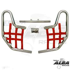 TRX 250EX 250X Honda   Nerf Bars  Alba Racing   Silver bar Red nets  220 T1 SR