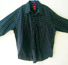 Vintage Men's Oscar De La Renta Plaid Long Sleeve XL Shirt Fabric Made in Italy