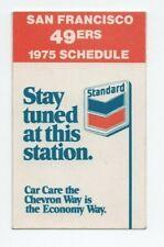 1975 SAN FRANCISCO 49ERS POCKET SCHEDULE (SKED)