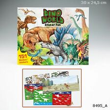 Depesche Dino World Sticker Fun Stickerbuch Malbuch 8495_A Jungen NEU Dinosaurie