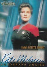 KATE MULGREW as CAPTAIN JANEWAY 1998 STAR TREK VOYAGER PROFILES AUTOGRAPH