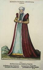Jost Amman Tracht Augsburg seltener prachtvoll kolorierter Holzschnitt 1577