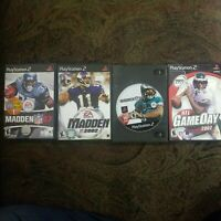 Sony PlayStation 2 PS2 LOT/BUNDLE FOOTBALL MADDEN 02, 06, 07 + NFL GAMEDAY 2002