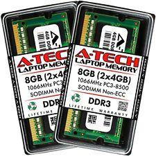 A-Tech 8 ГБ 2 X 4 ГБ PC3-8500 для ноутбука Sodimm DDR3 1066 МГц памяти 204-Pin RAM 8G 4G
