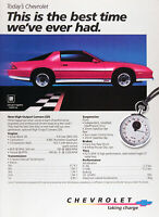 1984 CHEVROLET CAMARO Z28 Lot of (2) Genuine Vintage Ads ~ FREE SHIPPING!