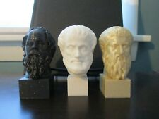 Socrates, Aristotle, Plato Busts; 3-inch Statues of the Greek Philosophers