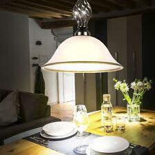 7 watt LED Luminaire suspendu vieux laiton style antique verre éclairage satiné