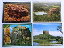 4x SRI LANKA Ceylon Sigiriya Rock Postkarten Postcards Lot Asien Ansichtskarten