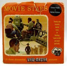 View-Master 740, 741, 742, Movie Stars I, II, III, S3 Pkg, 3 Reel Set