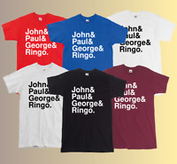 The Beatles Names T-Shirt John Lennon & Paul McCartney & George Harrison & Ringo