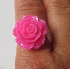 *Hot Pink Rose*  adjustable ring