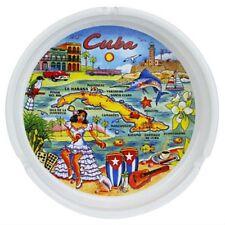 "Cuba Map Ceramic Ashtray 5"""