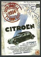 Citroen 7CV traction avant - cartolina cm 12 x 17