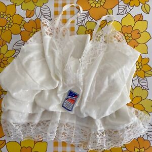 WITH TAGS Vintage WHITE Made in Australia Lingerie Special Occasion