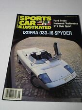 SPORTS CAR ILLUSTRATED  Magazine June 1988 #23 ISDERA  033-16 SPYDER FORD PROBE