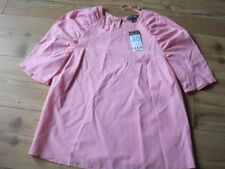 PINK BLOUSE SIZE 10 NEW WITH TAG ROUND NECK 63% COTTON PRIMARK