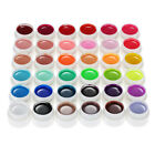 36 Pure Colors 12.5ml Nail Art Glitter UV Gel Acrylic Builder Glue Solid #L