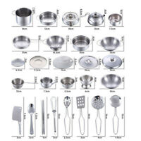 16Pcs Kids Kitchen Toys Set Stainless Steel Pretend Play Cookware Pots Pans Toys