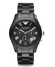 Runde Armbanduhren mit Keramik-Armband und Chronograph