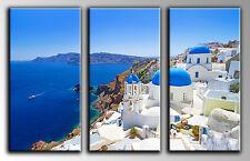 Cuadro Moderno Fotografico base madera, 90 x 60, Santorini Grecia