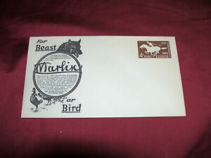 Old Repro Marlin Firearms First Day Postage 4 Cent Pony Express Stamped Envelope