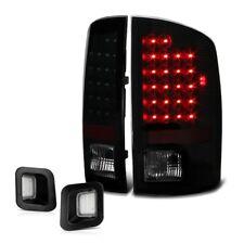 [SINISTER BLACK] 02-06 Dodge Ram 1500 Smoke LED Tail Lamp License Plate Light