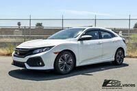 For 16-Up Honda Civic Hatchback Clip-On REAL MUGEN Style Side Vent Window Visors