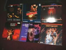 Lot of 6 Laser Disc PROVOCATIVE Hits- LOVE CRIMES, HOT SPOT, BODY CHEMISTRY 2 +3