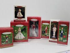 Hallmark Barbie Lot of 8 ornaments - Holiday, Celebration, Commuter + more!  NIB