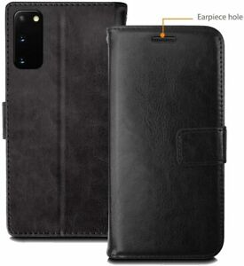 Genuine Leather Wallet Magnetic Stand Card Case Cover for Samsung Galaxy S20