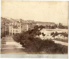 Grèce, Corfou, Esplanade, vue générale  Vintage albumen print Tirage album