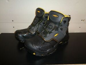 Keen Mens Steel Toe Boots Black Logandale WP 1017828 American Built Waterproof