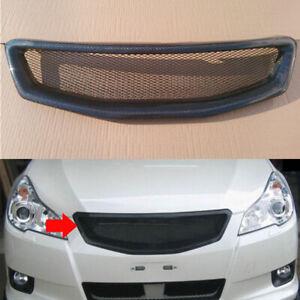 1x For Subaru Legacy 2008-2012 Car Carbon Fiber Front Upper Grille Grid Cover