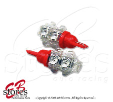 Set of 2pcs Red Front Side Marker 9 Flux LED Light Bulbs 168 194NA- T10 Wedge