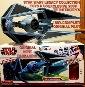 Star Wars Legacy Collection TIE FIGHTER INTERCEPTOR Toys R Us Exclusive 2009